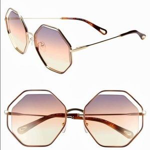 Chloe geo poppy geometric sunglasses